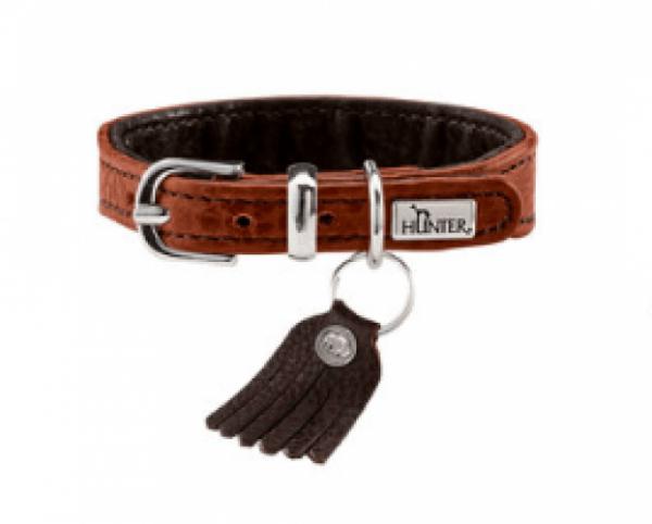 Hunter Bison leather dog collar
