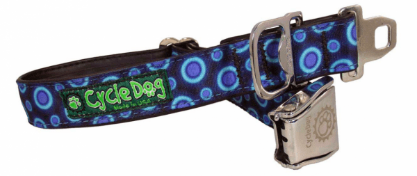 Cycle Dog Blue space dots collar