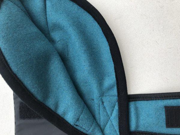 Waterproof dog coats with wool lining