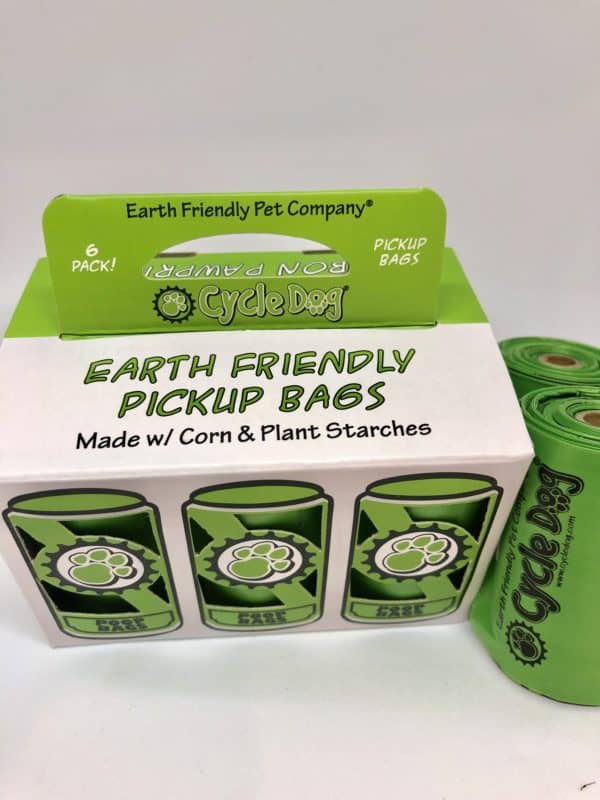 Cycle Dog compostable pick up bags made from corn and starches refill pack 6 rolls 72 bags