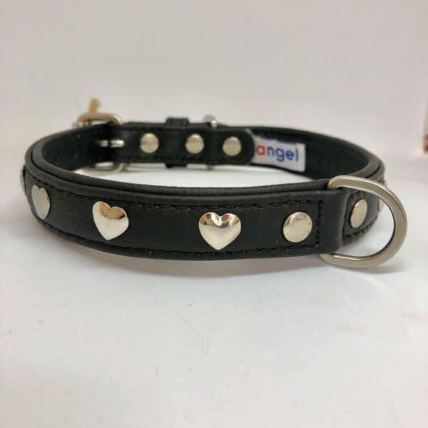 Angel Hearts leather collar black