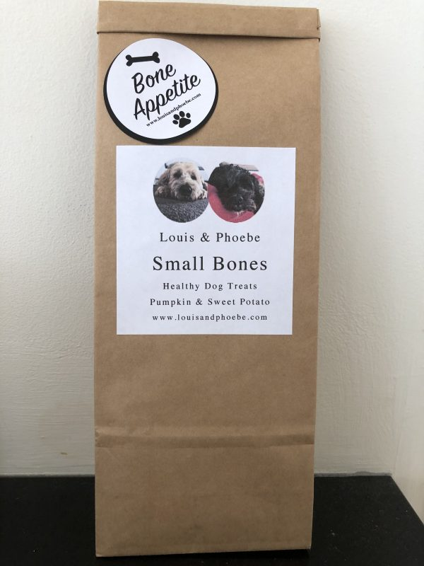 Louis and Phoebe Small Bones healthy dog biscuits Pumpkin and Sweet Potato 150g