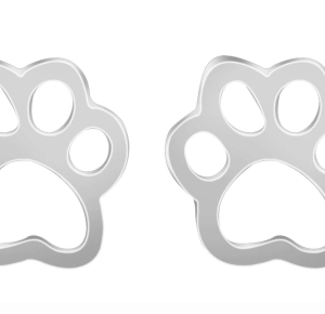 Louis and Phoebe silver paw earrings