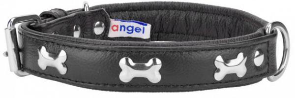Angel Rotterdam Bones leather collarblack