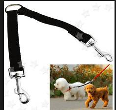 Angel leather 2 dog walking couplers