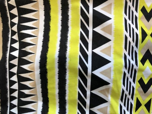 Yellow Aztec colour lycra tee for dogs SPF50