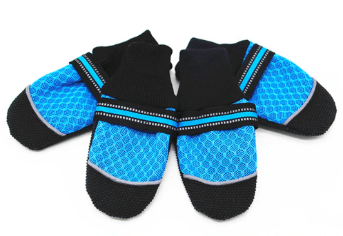 Dog shoes anti slip breathable mesh