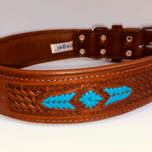 Angel Sierra leather dog collar
