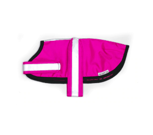 Mr Soft Top waterproof rain coat Hot Pink with pure wool lining for warmth. Made in New Zealand.