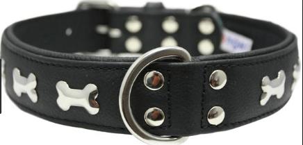 Angel Rotterdam Bones leather collar black