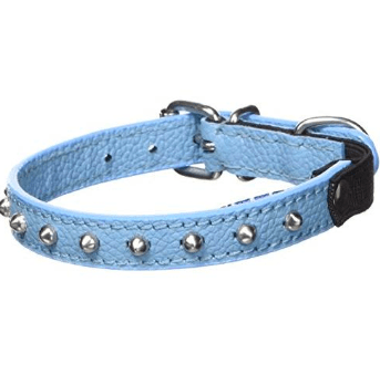 Angel leather studded cat collar