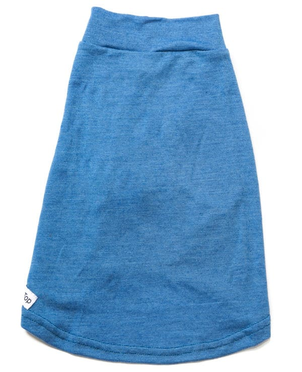 Mr Soft Top dog merino tee Cornflower Blue