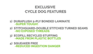 Cycle Dog Fuzzie eco dog toy