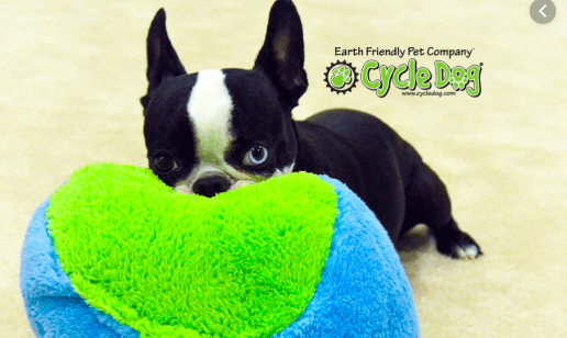 Cycle Dog duraplus Fuzz ball eco dog toy