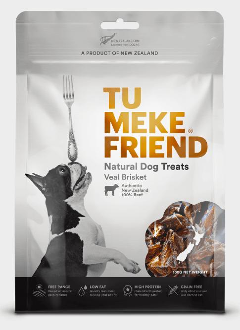 Tu Meke Friend dog treats Veal Brisket 100g