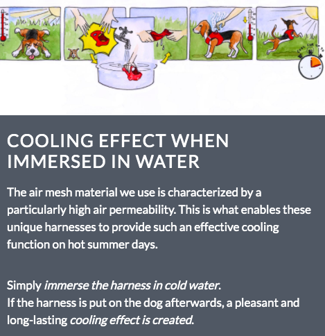 Curli Air Mesh Comfort Harness cooling effect in hot weather