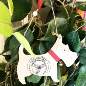 Dog christmas tree decorations