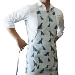 Grey Schnauzer apron organic cotton