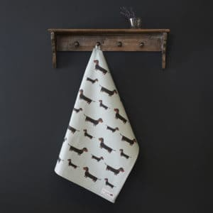 Dachshund - Sausagaedog Tea Towel organic cotton
