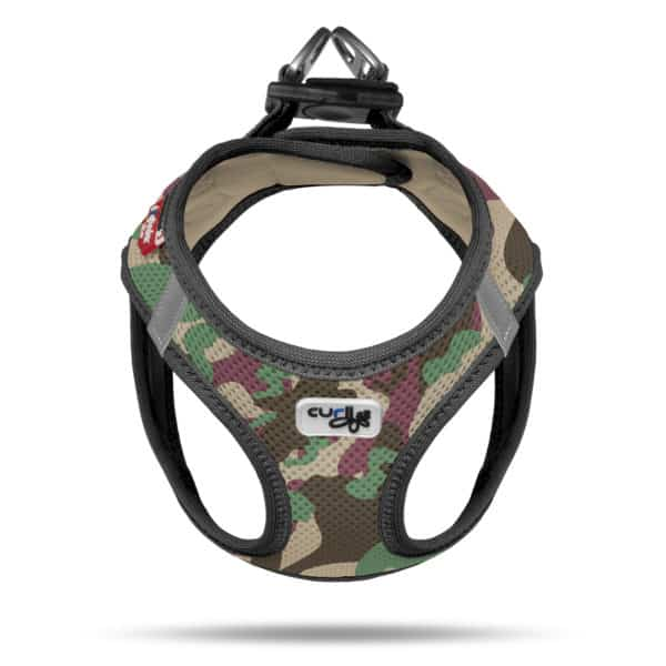 Curli comfort step in dog vest harness Swiss design Camo