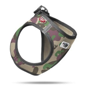Curli comfort step - in dog harness Swiss design Camo