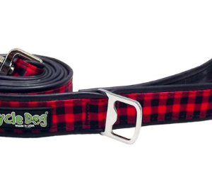 Cycle Dog waterproof dog lead red plaid eco friendly
