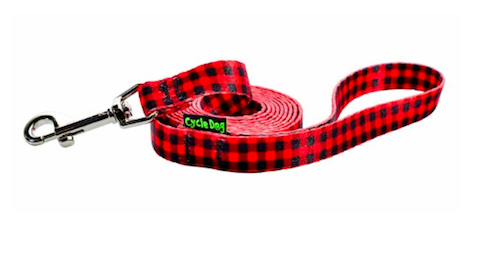 Cycle Dog dog lead red plaid for small dogs made from plastic bottles