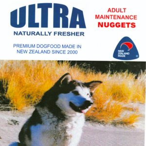 Ultra Premium dog food made in New Zealand