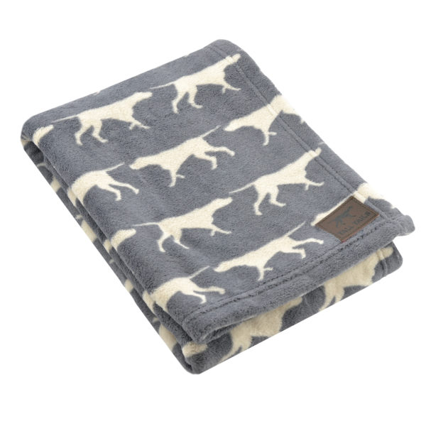 Tall Tails dog blanket soft fleece charcoal dog icon