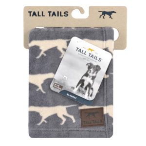 Tall Talls dog blanket soft fleece Charcoal Icon