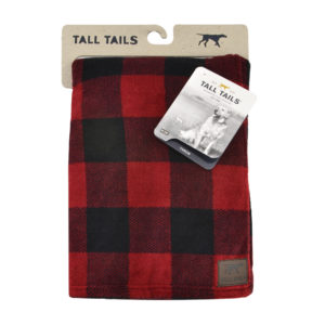 Tall Tails Hunters plaid soft fleece dog blanket