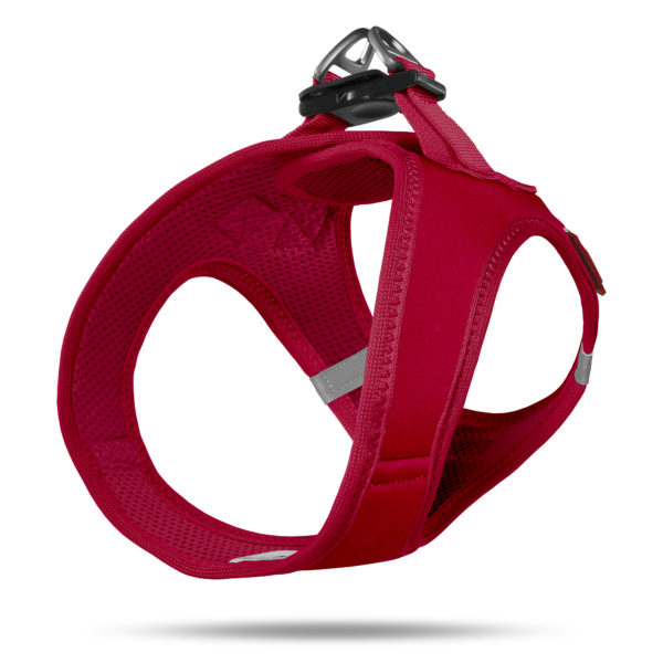 Curli step in comfort Soft Shell vest harness red