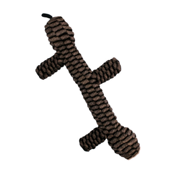 Tall Tails Brown Braided dog Stick toy