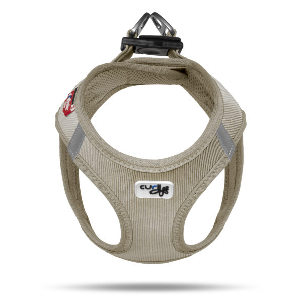 Curly Air Mesh Comfort vest harness Cord Tan