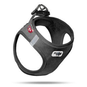 Curly Air Mesh Comfort vest harness Cord Black