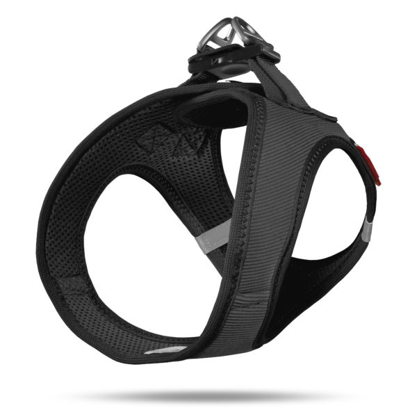 Curly Air Mesh Comfort vest harness Cord Black