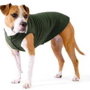 GoldPaw dog fleece Hunter Green