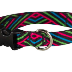 Cycle Dog small dog collar pink black diagonals