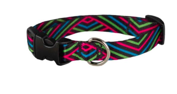 Cycle Dog small dog collar pink black diagonals