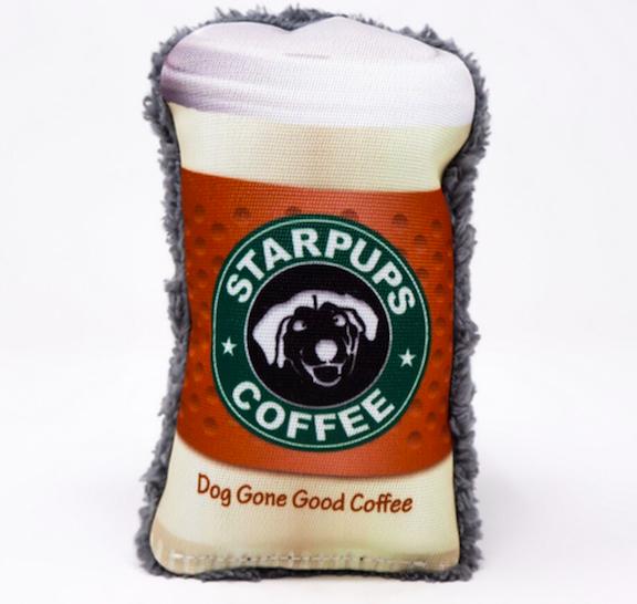 Cycle Dog Starpups Coffee dura plush dog toy