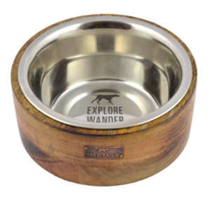 Tall Tails Wood riser dog bowl