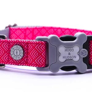 Hugo and Hudson of London Geometric dog collar
