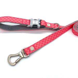 Hugo and Hudson Geometric pink lead