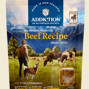Addiction Meaty Bites Beef dog treats sensitive 113g