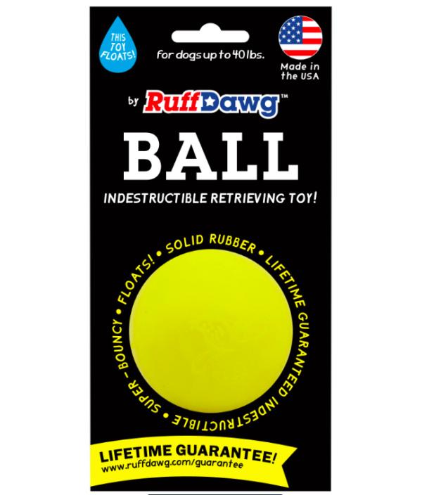 RuffDawg Ball floats bounces, indestructible