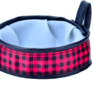 Cycle Dog Trail Buddy Travel Bowl Plaid