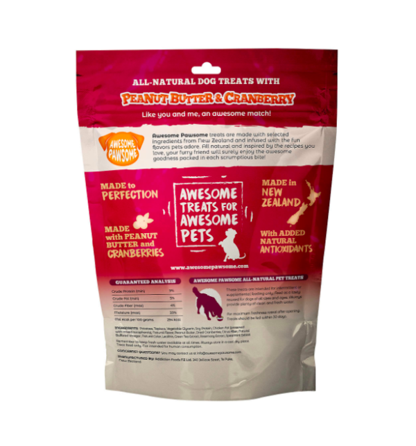 Awesome Pawsome Peanut Butter and Cranberry 85g