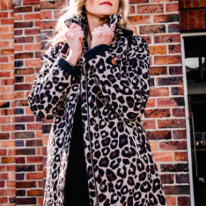 Scribbler Winter Fleece Raincoat - Leopard Luxe