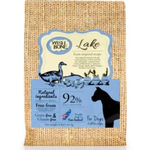 Wishbone dog kibble lake made in New Zealand