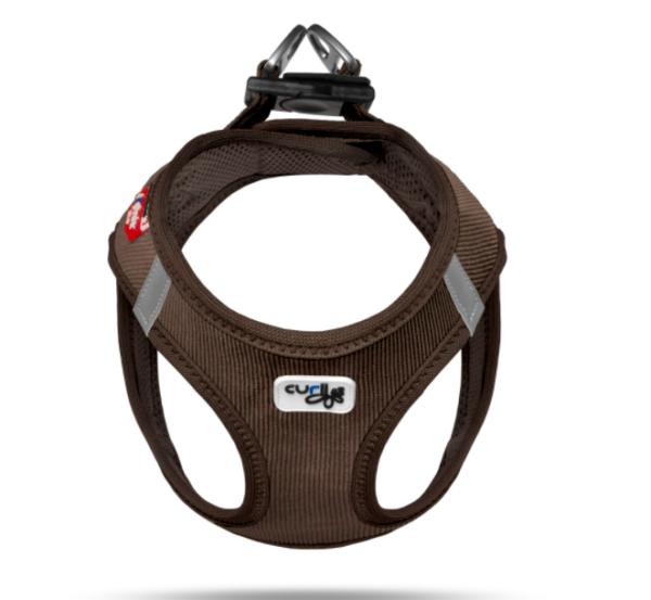 Curli Corduroy vest harness Brown